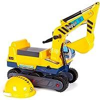 Bopster Correpasillos - Tractor Amarillo con Excavadora