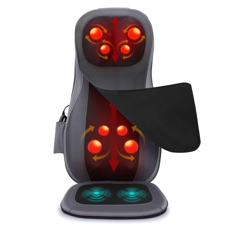 Naipo Massage du Dos Coussin Siège de Massage Fauteuil Massant Shiatsu avec Fonction Chauffante pour Entier Cou Nuque Dos product image