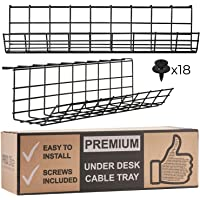 Under Desk Cable Management Tray - Cable Organizer for Wire Management. Metal Wire Cable Tray for Office and Home…