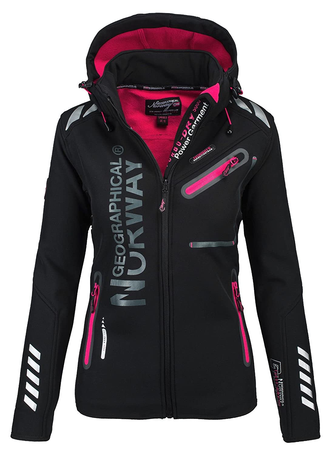 Chaqueta multifunció n softshell impermeable para mujer de Geographical Norway negro XXL GeNo-24-Schwarz-Gr.XXL