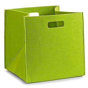 Wohnideen Shop wohnideenshop regalkorb filz in grün 32x32x32cm für ikea kallax