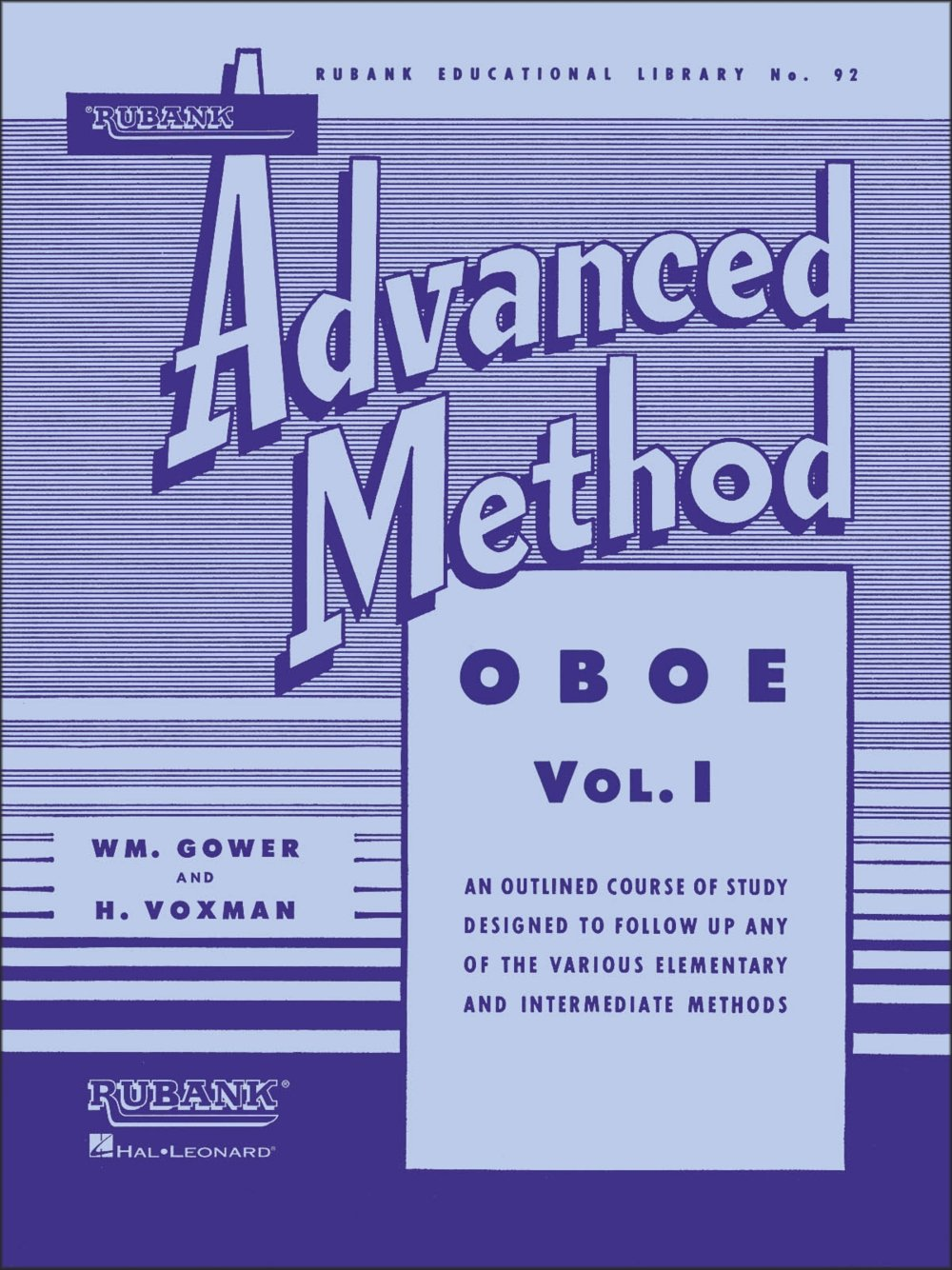 Music Rubank Advanced Method 1 - Oboe Rubank Publications 04470410