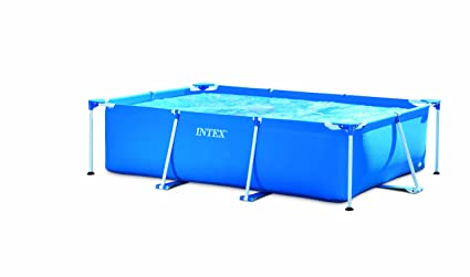 Intex - Kit de Piscina Rectangular, Azul, 3800 l, 300 x 200 x