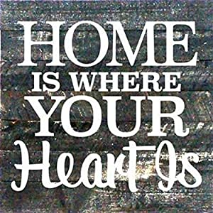 Artistic Reflections Pallet Art RE1038b Home is Where Your Heart is, 10.5