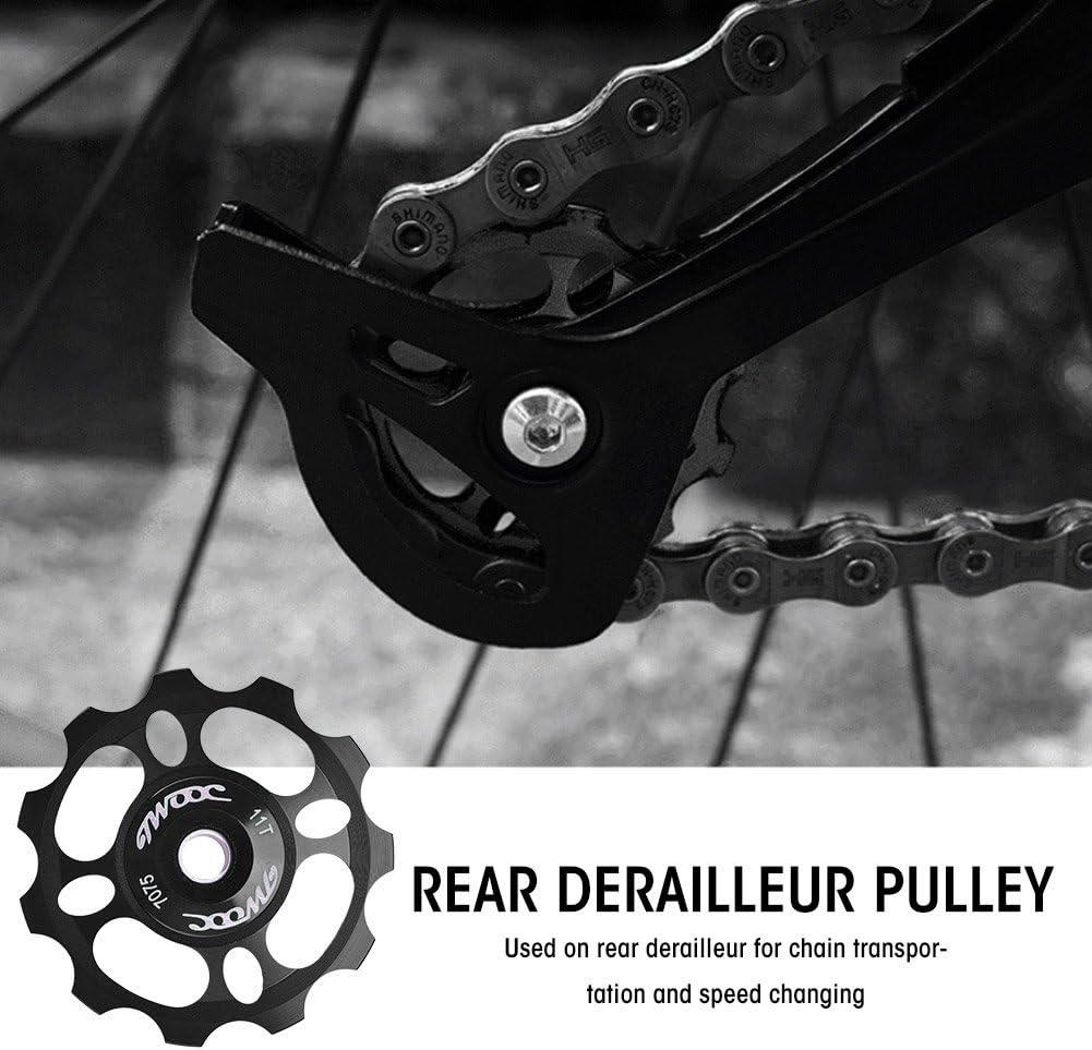 Dilwe Rueda de Gu/ía de Bicicleta Aleaci/ón de Aluminio/Desviador Trasero de Bicicleta Desplazador Trasero de Rueda Polea de Cambio Accesorios para Bicicleta 11T