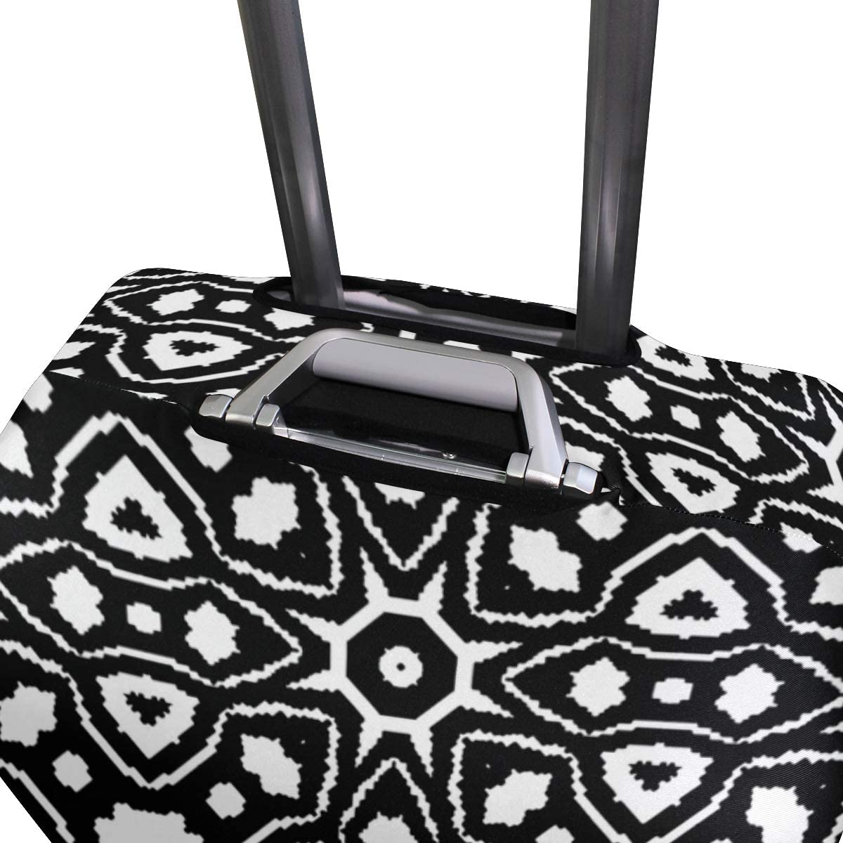 Nanmma Cute 3D Geometric Pattern Luggage Protector Travel Luggage Cover Trolley Case Protective Cover Fits 18-32 Inch