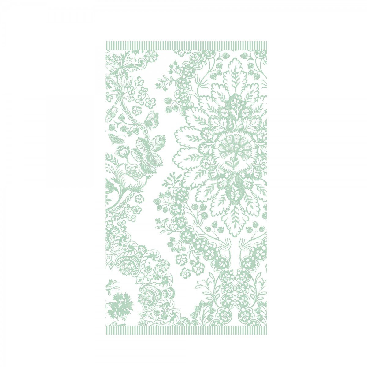 Asciugamano Lacy Dutch Verde 55x100cm Pip Studio