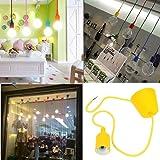 Lixada Colore Lampadario Portalampada Pendente della Luce per Stanza Decorazione ,1m,E27