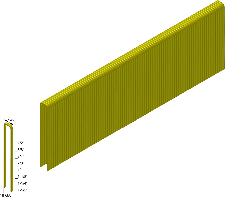 Senco L Style Staples 5,000-Pack PREBENA 18GA 1//4 Crown x 1-1//4 Length Galv