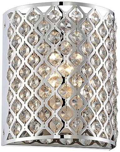 Possini Euro Design Glitz 8 1/2u0026quot; High Pocket Wall Sconce  sc 1 st  Amazon.com & Possini Euro Design Glitz 8 1/2