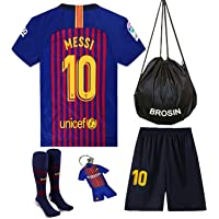 Soccer Jersey Barcelona Home Mess Home Kids & Youth 2019 New Season #10 Messi Football Soccer Jersey Shorts, Socks, Color Blue & Red