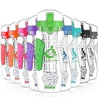 Grsta Sports Wasserflasche Auslaufsicher - Trinkflaschen für Fruchtschorlen - 1000ml / 1Liter - BPA Frei Tritan Kunststoff, Ideale Sportflasche - für Yoga, Laufen, Fitnessstudio, Detox, Camping