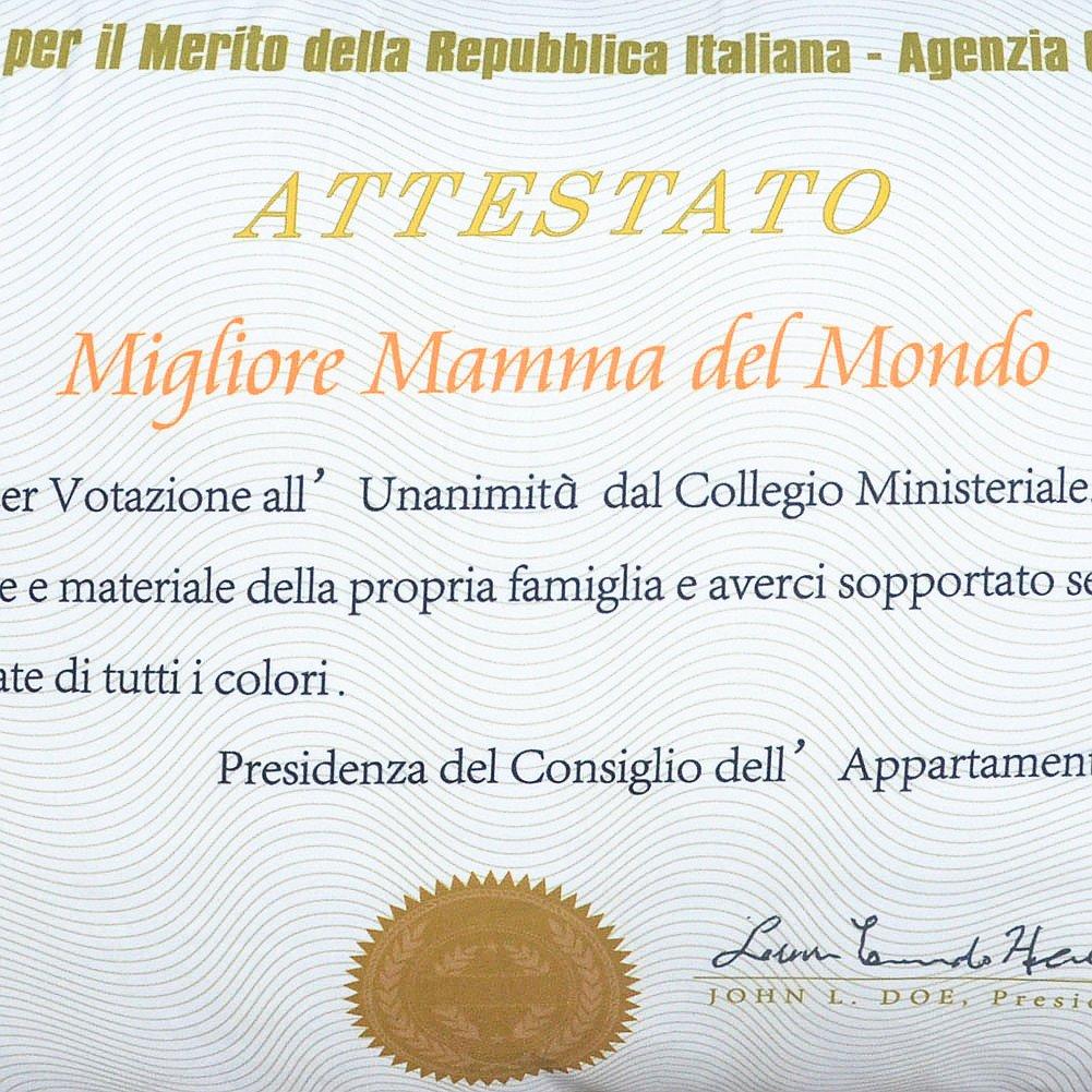 """Eccezionale REGALO MAMMA PAPA- Fodera per Cuscino Letto Rettangolare"""" Migliore  RU46"""