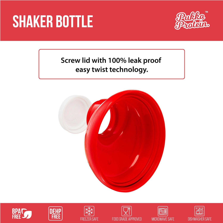 PUKKA PROTEIN Botella Mezcladora - Grande 600ml Botella Mezcladora para Batidos de Proteínas - Sin Goteo, Garantizado - La Manera Fácil e Inteligente de ...