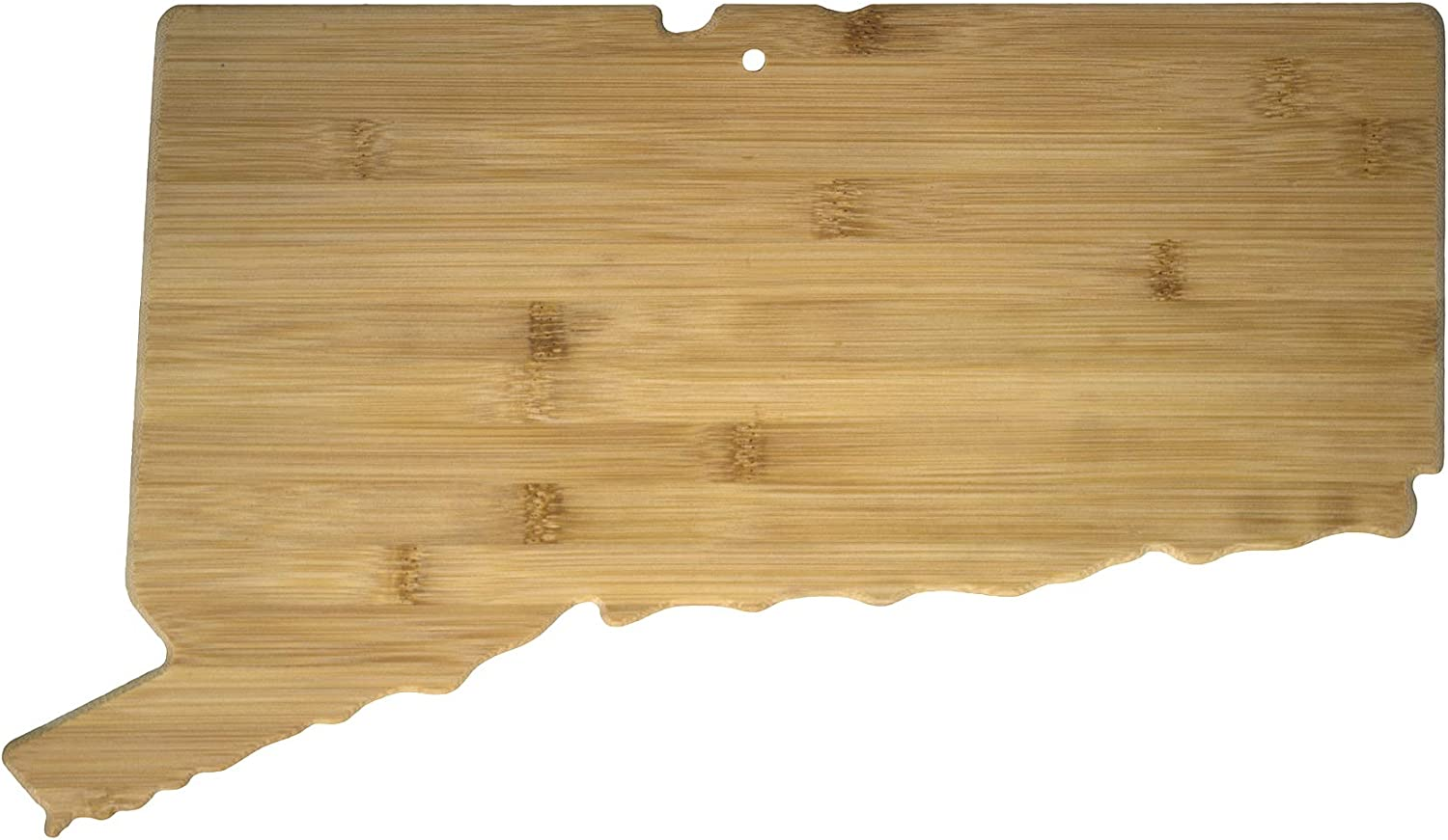 Totally Bamboo Connecticut State Shaped Bamboo Serving & Cutting Board