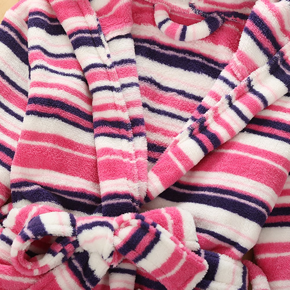 Evebright Kids Girl Soft Touch Plush Bathrobes Hooded