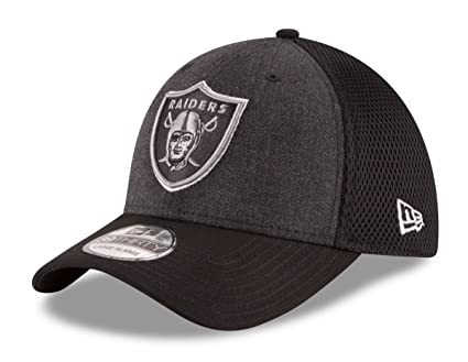 13a2d07d7ee78 Image Unavailable. Image not available for. Color  Oakland Raiders New Era  NFL 39THIRTY  quot Heathered Black Neo quot  Flex Fit Hat