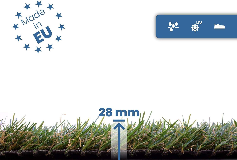 AEROBATICS Zuschnitt Kunstrasen,Ideal als Teppich f/ür Hunde Garten und Fu/ßmatte Gummierte Unterseite mit Drainagel/öchern wasserdurchl/ässig f/ür BalkonTerrasse Garten