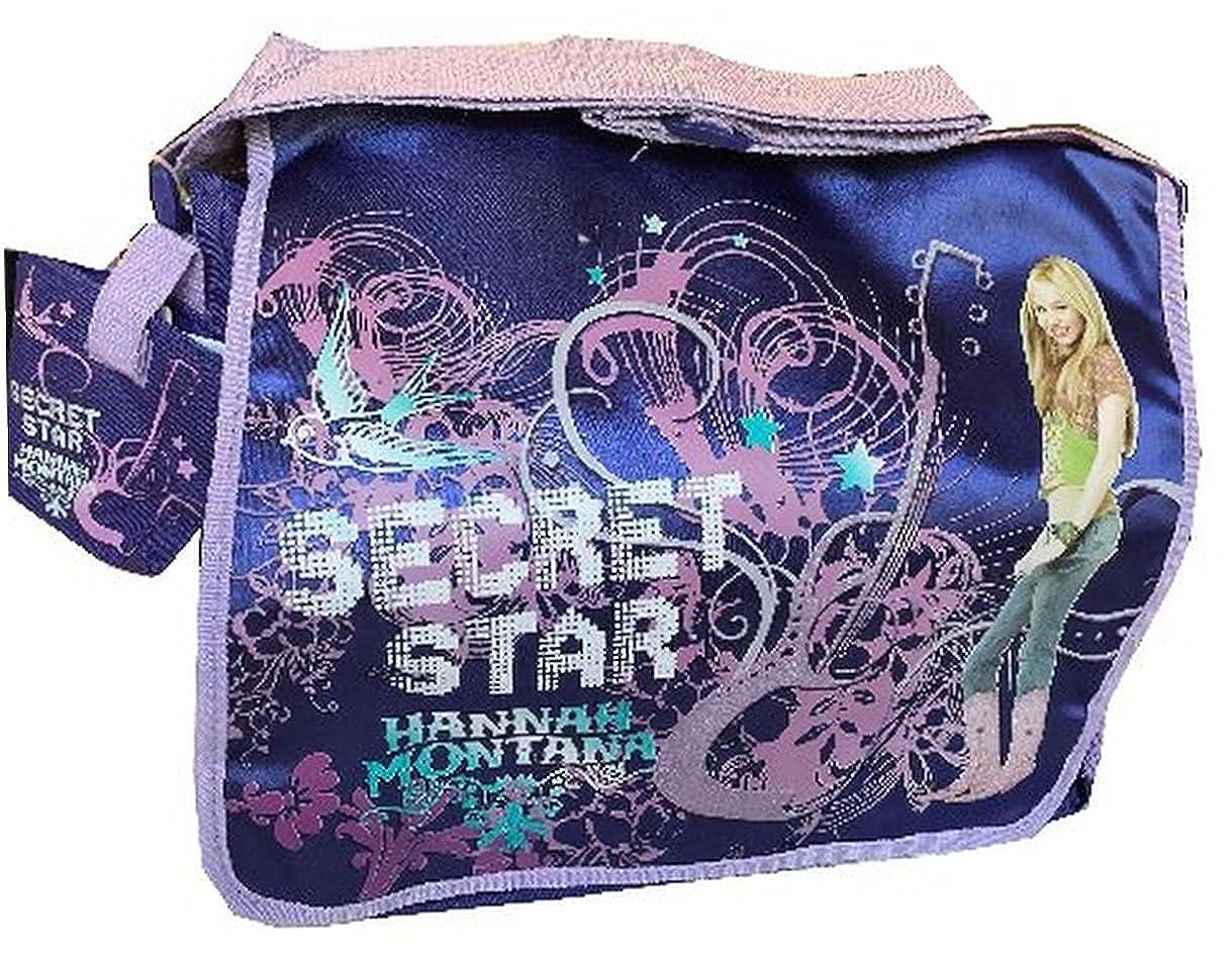 Disney Hannah Montana Large Messenger School Bag Purple