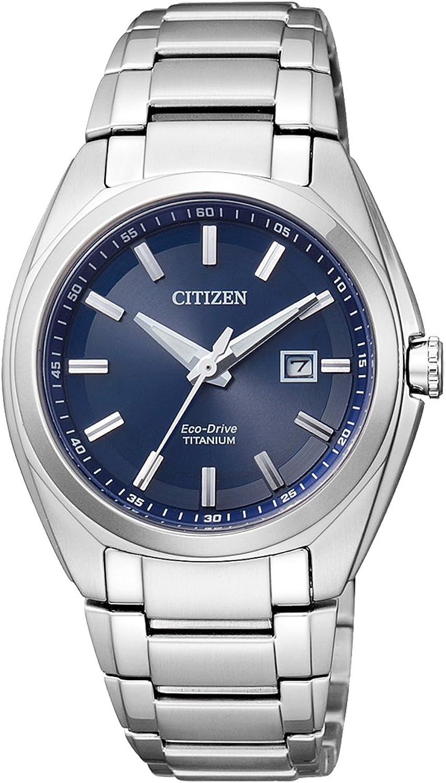 Citizen Reloj Analógico para Mujer de Cuarzo con Correa en Titanio EW2210-53L