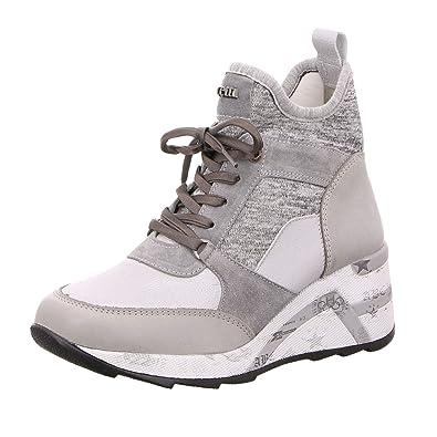 bb13b69396d5ba Cetti Damen Sneaker C1151-SRA-STONE grau 543853  Amazon.de  Schuhe ...