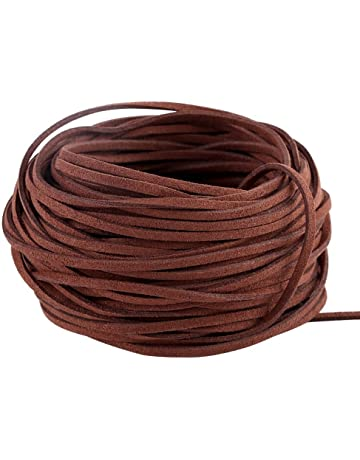 a3123ef28d6d8 GoFriend 25 Yards Suede Cord Lace Faux Leather Cord Jewelry Making Beading  Craft Thread String-