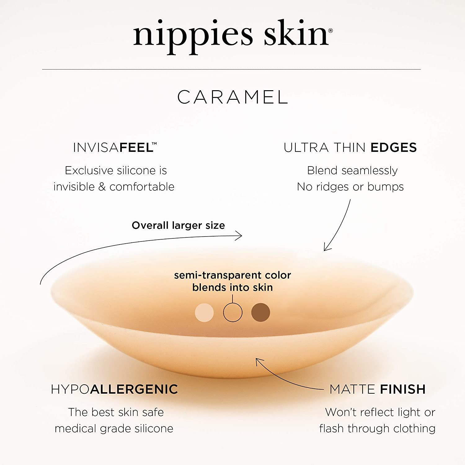 Nippies Skin Sticky Adhesive Pasties The Ultimate NippleCovers Caramel Skin