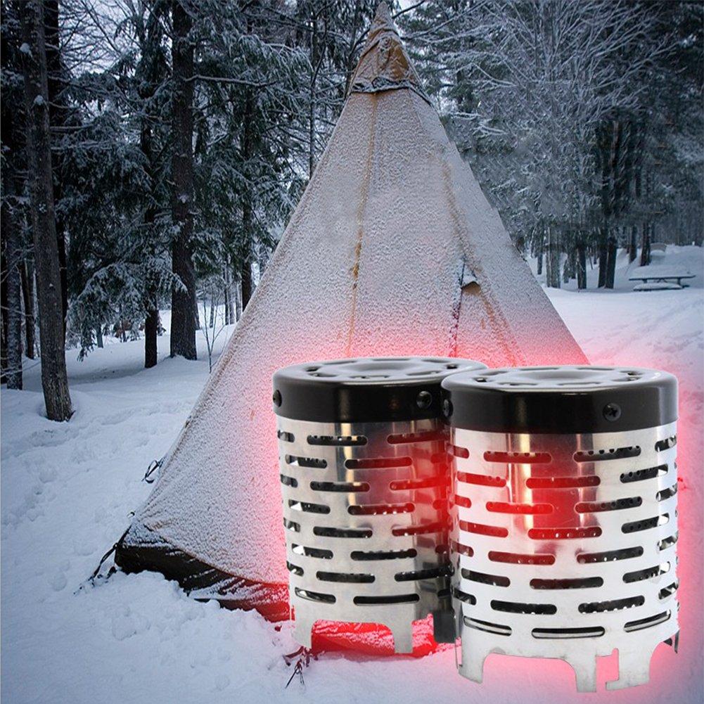 Lembeauty - Calentador de estufa portátil para camping al aire libre, viajes, camping, pesca, tienda de campaña de calefacción, herramienta