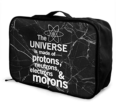 Travel Luggage Duffle Bag Lightweight Portable Handbag Space Astronauts Pattern Large Capacity Waterproof Foldable Storage Tote