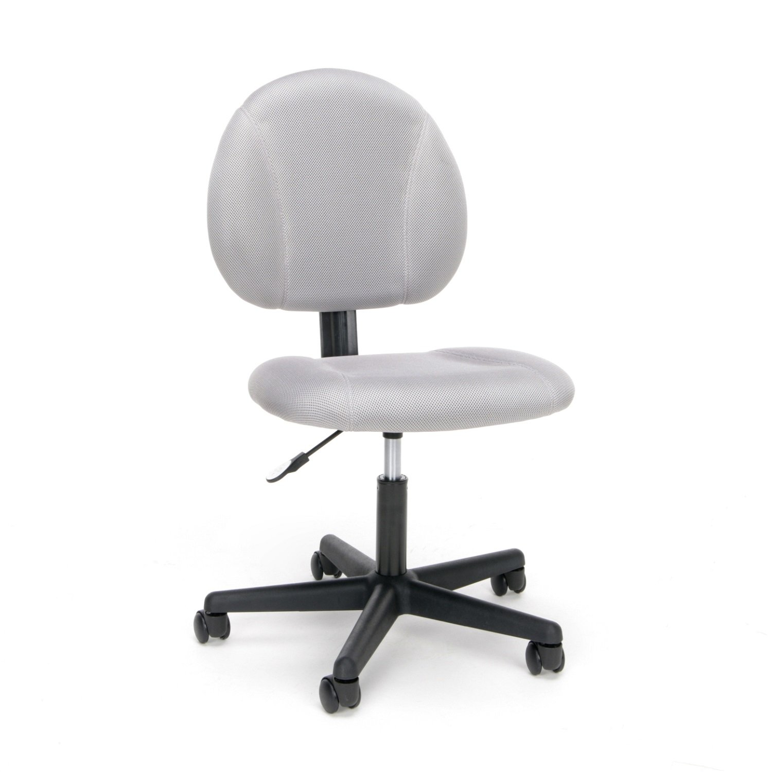 Essentials ESS-3060 Swivel Upholstered Armless Task Chair – Ergonomic Computer Office Chair, Gray