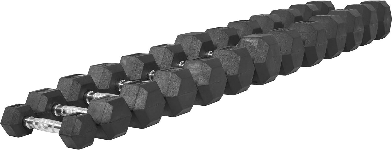 Gorilla Sports 2 kg /à 50 kg Halt/ère Hexagonal en Caoutchouc