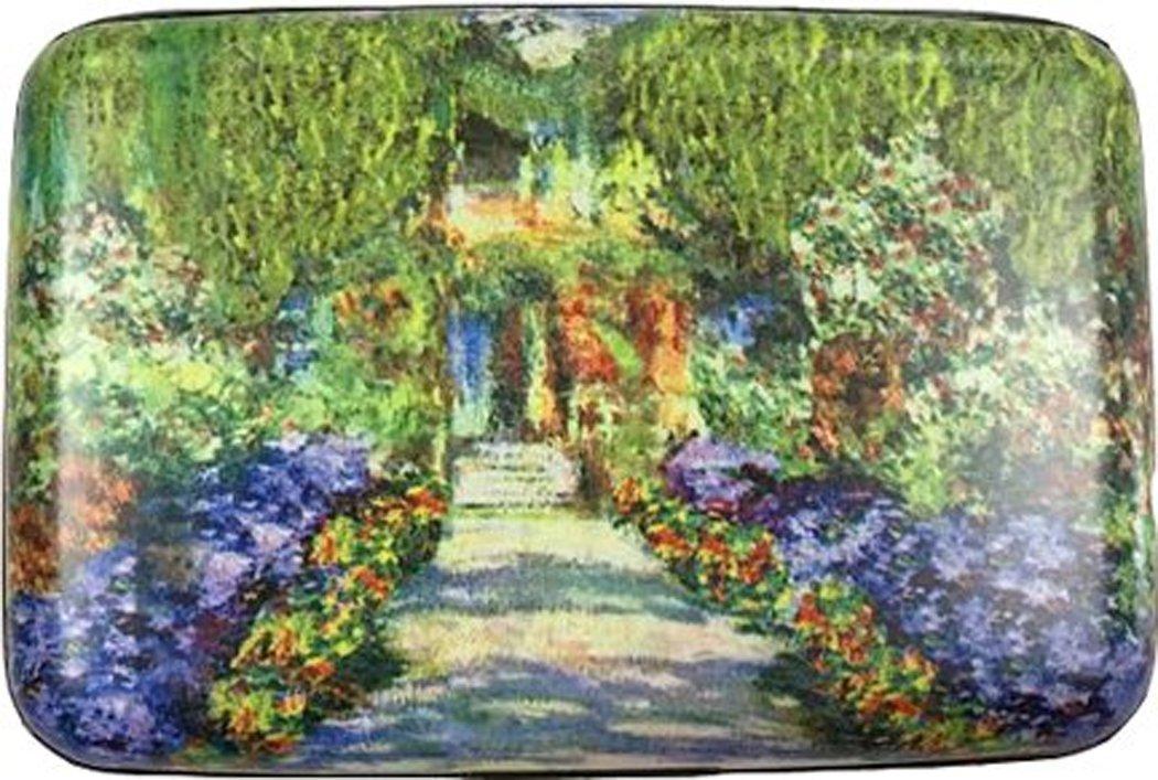 RFID Secure Armored Wallet - Fine Art 3, Monet Garden