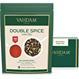 VAHDAM, Double Spice Masala Chai Tea (100 Cups), STRONG & SPICY, 100% Natural Ingredients   Blend of Black Tea, Cardamom, C