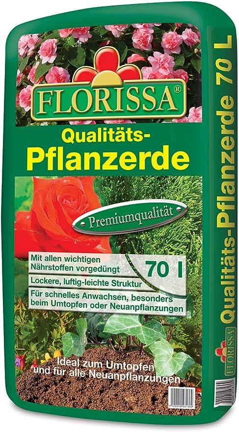 Florissa - Tierra para plantas, 70 litros, producto de calidad para jardín, árbol, plantas: Amazon.es: Jardín