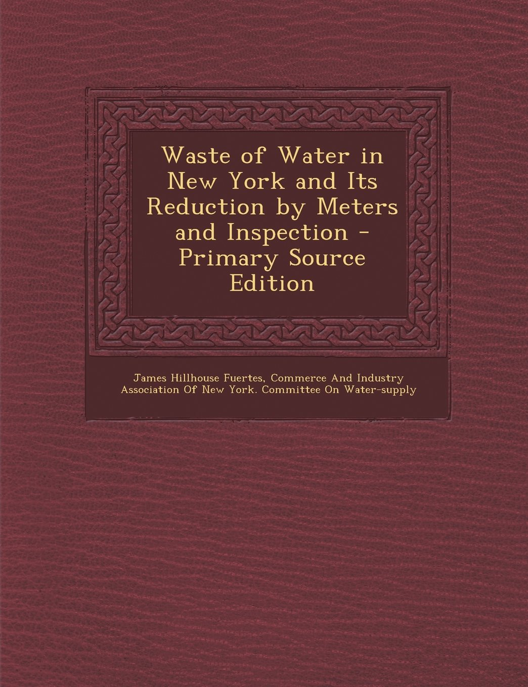 Download Waste of Water in New York and Its Reduction by Meters and Inspection PDF