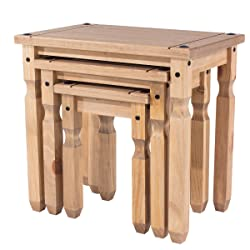 Mercers Furniture Corona Piccolo Lot de 3 Tables gigognes – Pin