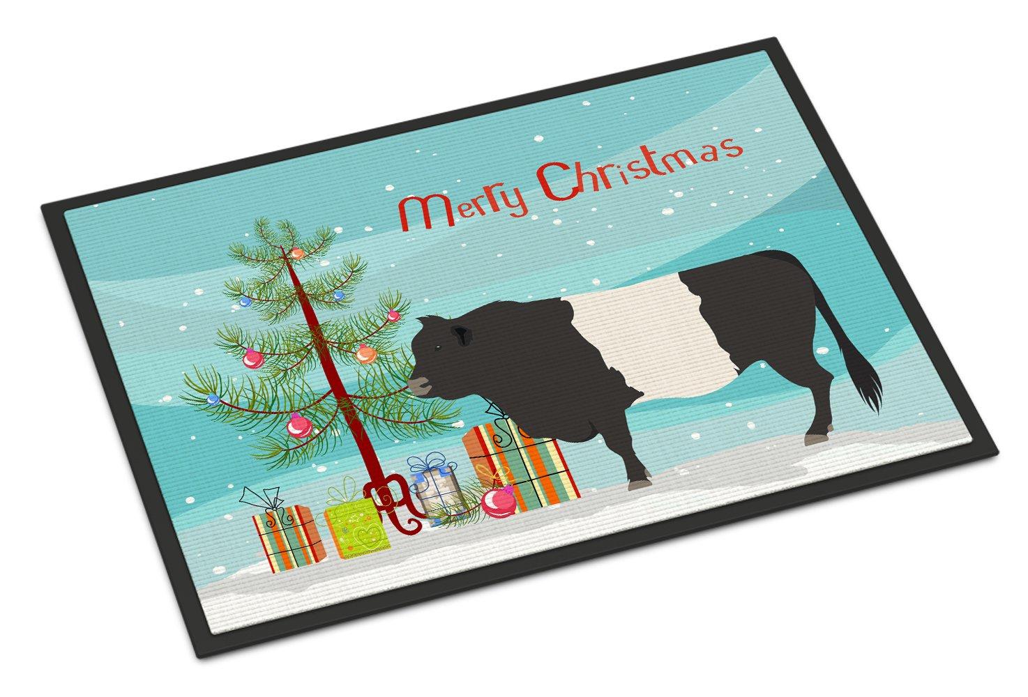 Carolines TreasuresWild Boar Pig Christmas Doormat 24 x 36 Multicolor