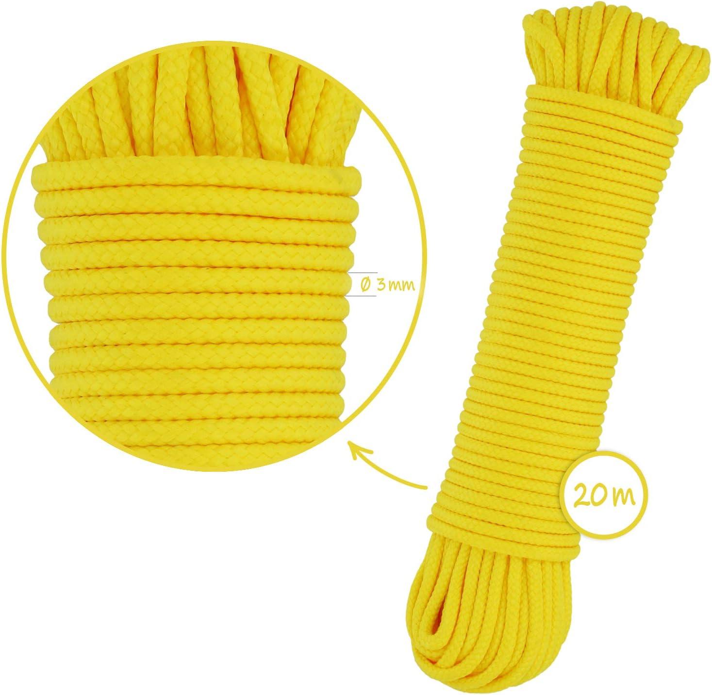 com-four/® 2X 12m Cuerda Multiusos l/ínea de Amarre Cuerda de Polipropileno 24 Metros - Verde cord/ón de sujeci/ón vers/átil l/ínea Trenzada para Regalos de Bricolaje