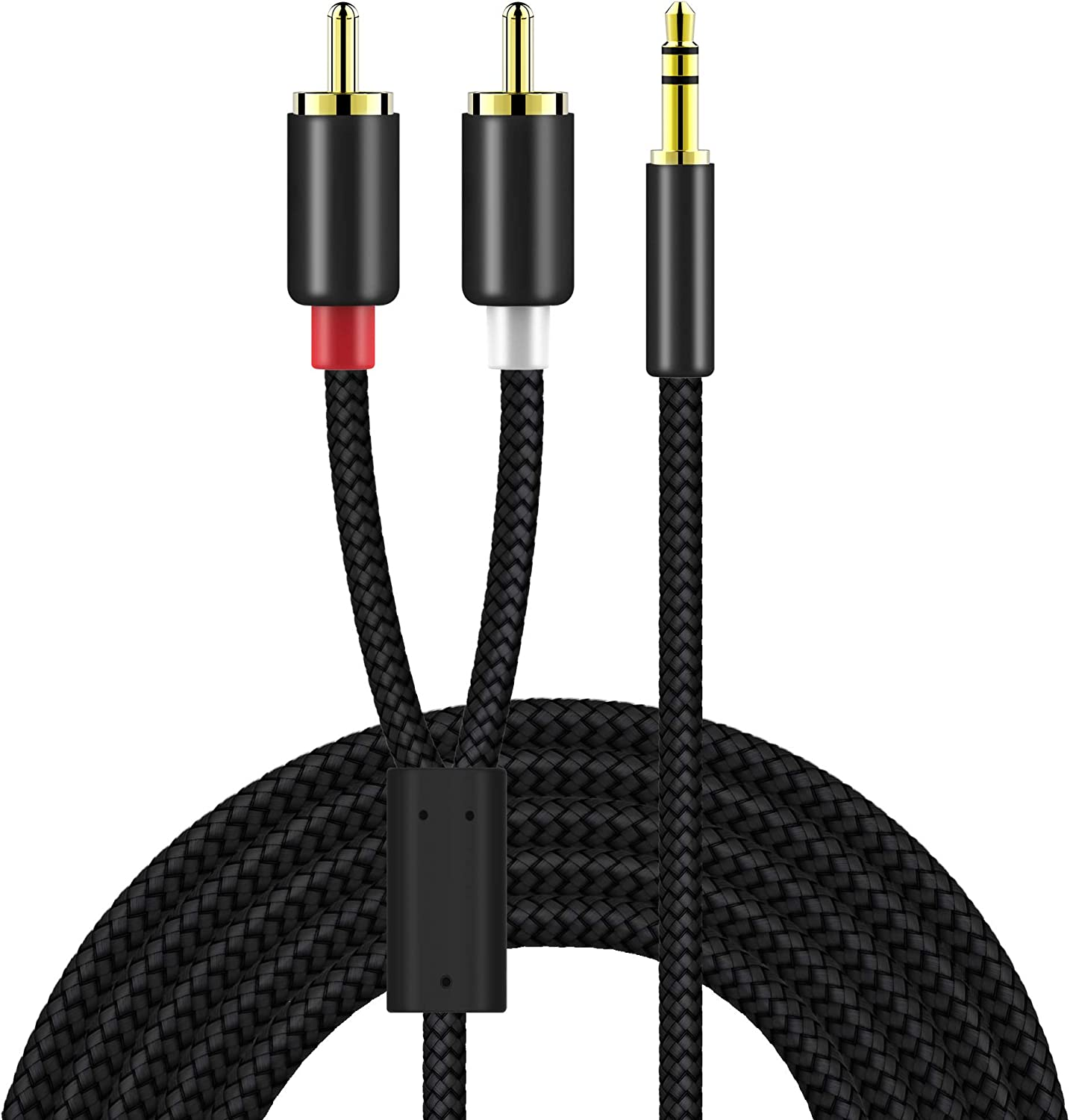RCA Cable 6FT, UMECORE 3.5mm Plug Auxiliary Aux to 3 RCA AV Audio Video TV Cable Cord Wire for Home Theater, HDTV, MP3, HiFi Systems and More