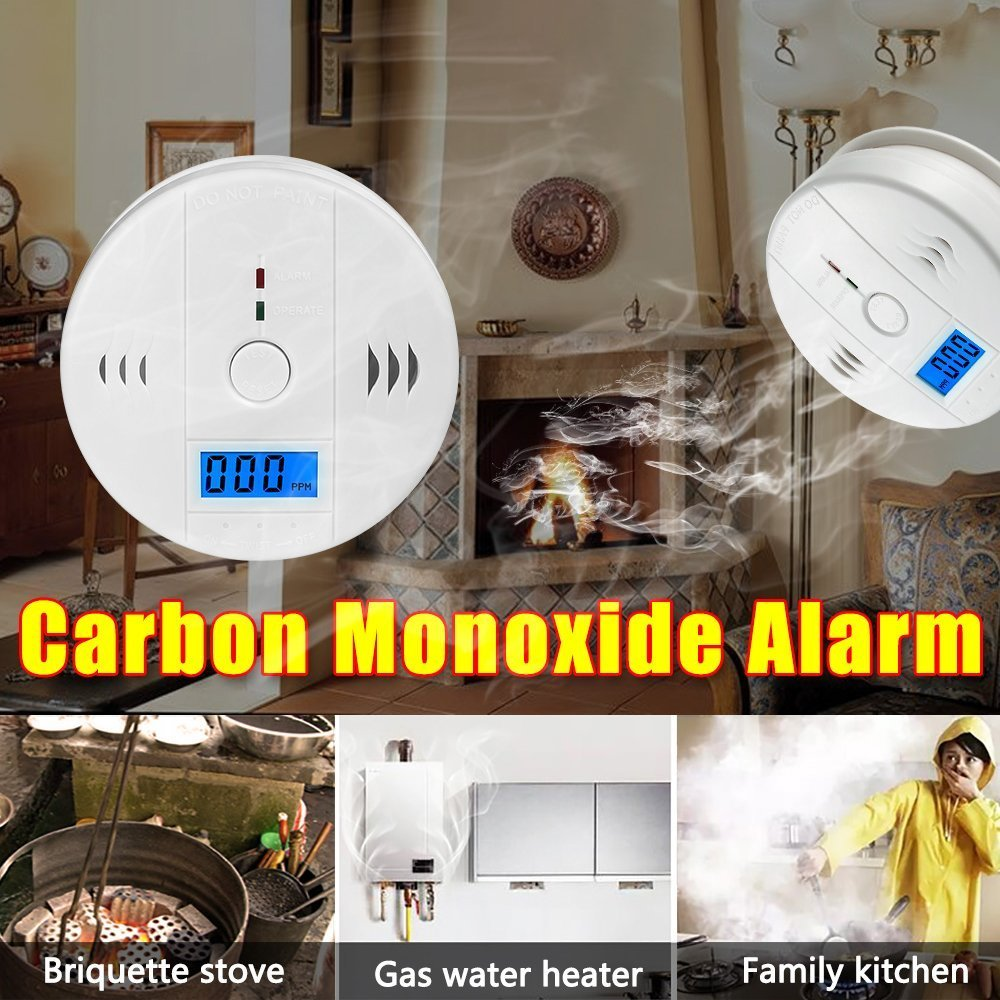 Carbon Monoxide Detector Gas Detection, HECOPRO Digital Display Carbon Monoxide Alarm, Electronic Equipment, Power Detection Equipment, Alarm Clock Warning, 2Pack