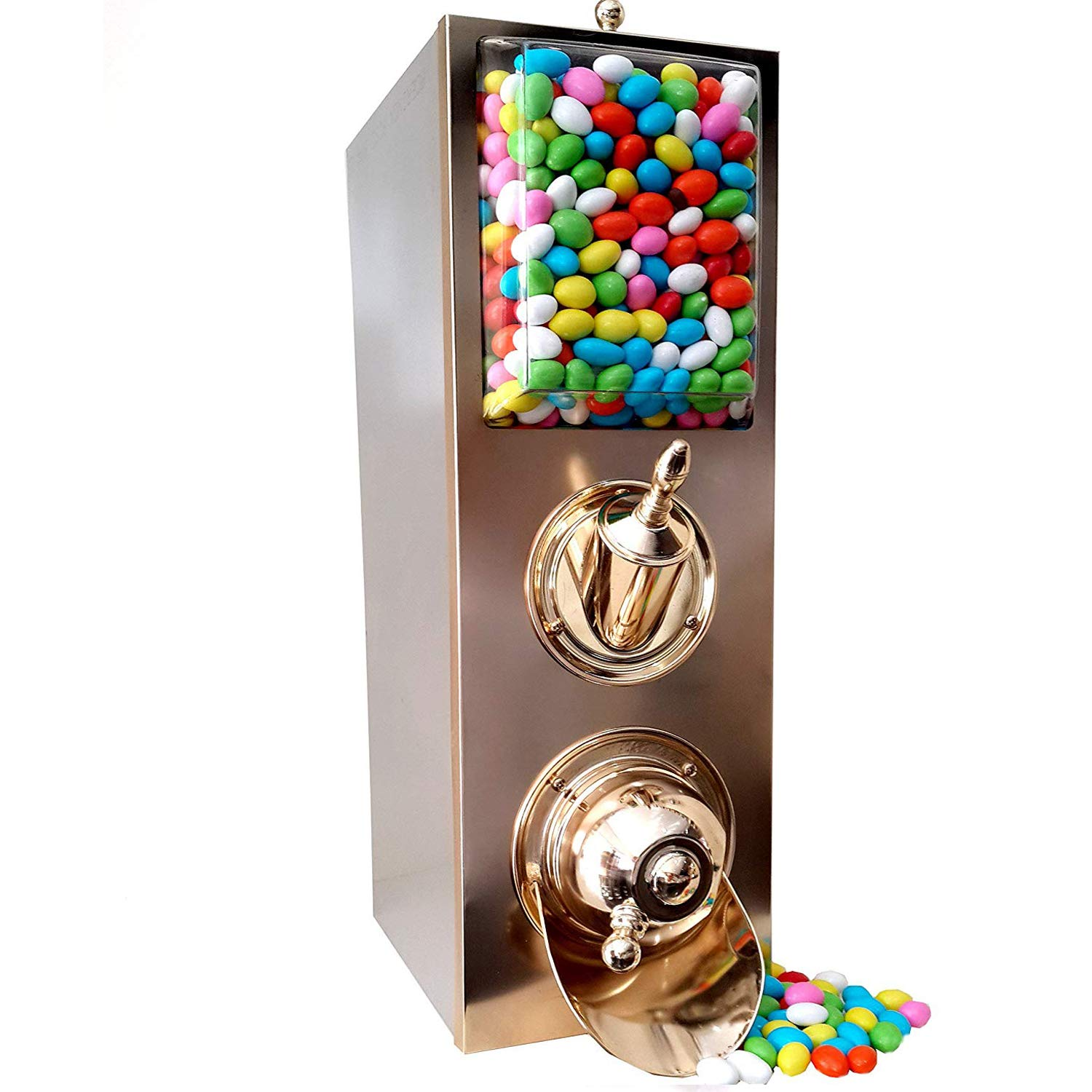 Candy Shop Dispenser with Scoop, Brass