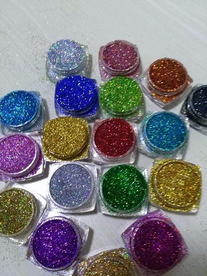 Uñas Postizas Puntas De Uñas 18 Pcs Holographic Glitter Resina ...