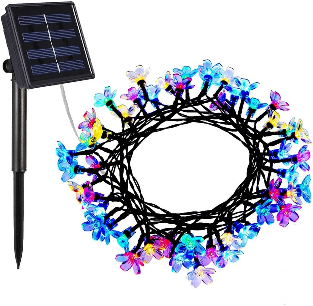 Solar String Lights Decrotive Lights String Waterproof 23ft 50 LED Christmas Lights for Indoor Outdoor, Home, Garden, Wedding, Patio, Party and Holiday Decorations Qklfy Multi Color