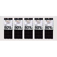 Beppiani - Set 5 tabletas 80% chocolate oscuro
