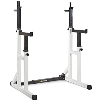 image s power mirafit gym loading rack weight spotter stands bench squat adjustable itm barbell is