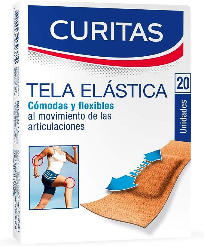 Curitas Tela Elástica, 20 Piezas, 1 count, Pack of 1: Amazon.com.mx