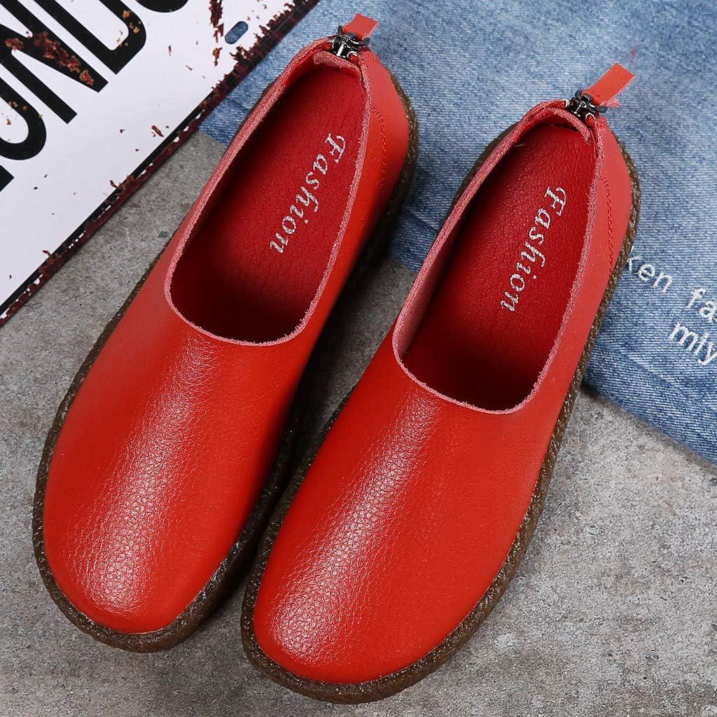 Mocassins Femme Cuir Confortable,Overdose Casual Loafers /à Enfiler Chassures Semelle Souple Chaussures de Marche