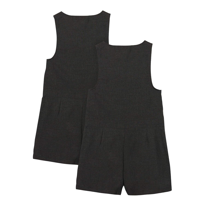 Debenhams Kids 2 Pack Girls Grey Playsuits