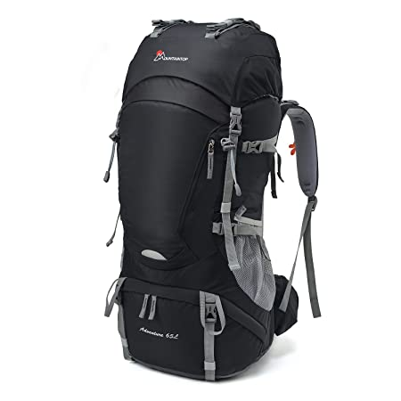 MOUNTAINTOP 55L 65L Internal Frame Backpack Hiking Backpack with Rain Cover