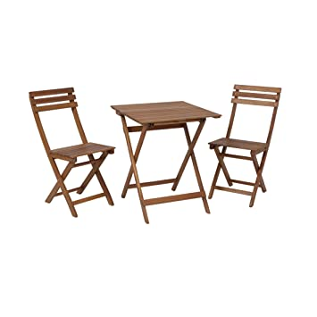 Juego de mobiliario de jardín de acacia FSC® para balcón ...